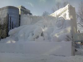 大雪像 北の動物園