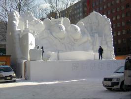 大雪像 ミッキー