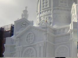 大雪像 時計 拡大
