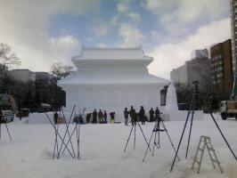 大雪像 自衛隊の方々