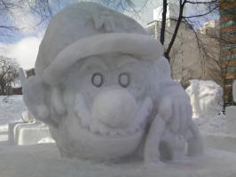 雪像 マリオ