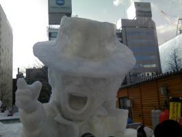 雪像 マイケルジャクソン