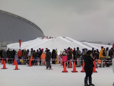 雪像 すべり台