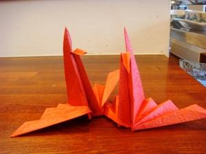 二羽の折り鶴