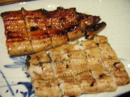 鰻の紅白焼き