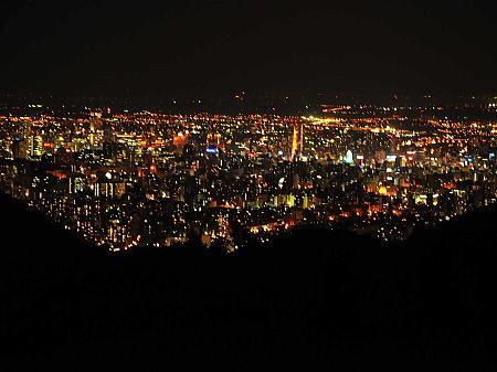幌美峠から望む札幌の夜景