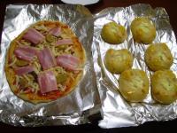 パンとピザの下準備