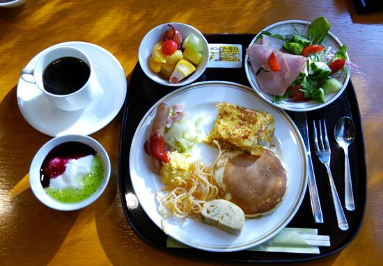 パンケーキの朝ご飯1311