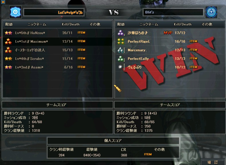 Blit's戦