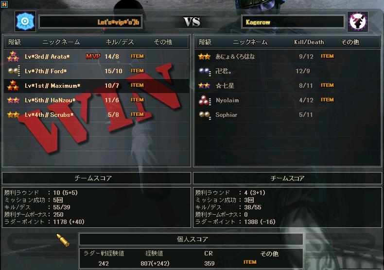 Kagerow戦