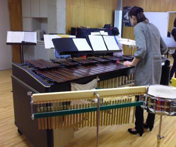打楽器稽古