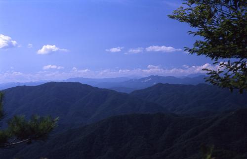 葦嶽山からの眺め