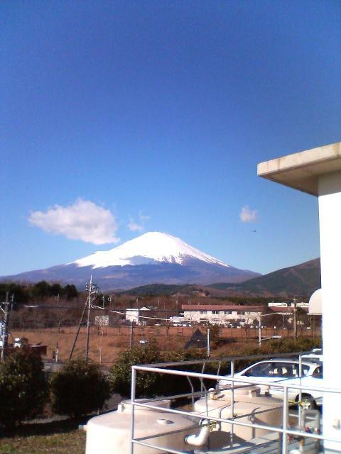 雲塊と富士山
