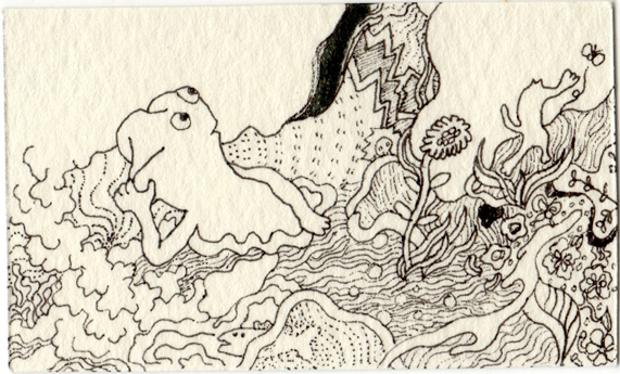 川で描いたミニ