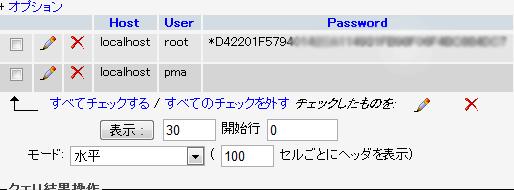 mysqlrootパスワード