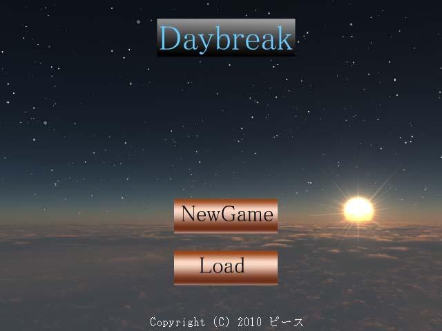 Daybeakタイトル画面