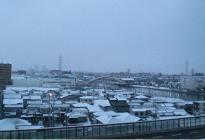 南側 雪 景 色