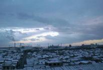北側 雪 景 色
