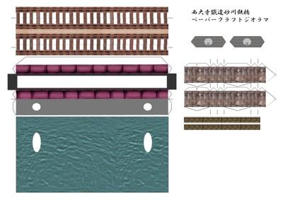 砂川鉄橋ミニジオラマ展開図