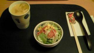 オレンジジュース&サラダ