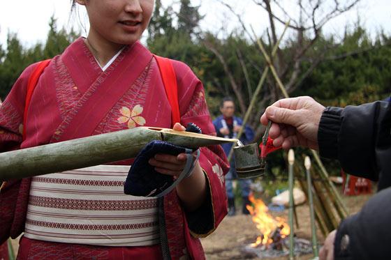 大安寺 笹酒祭り1