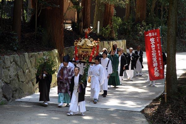 笠山荒神社 春の大祭1