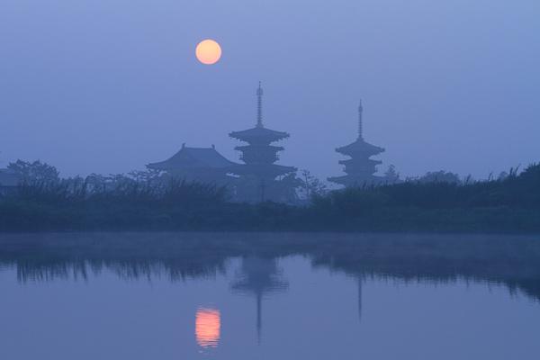 西ノ京 霧の朝2