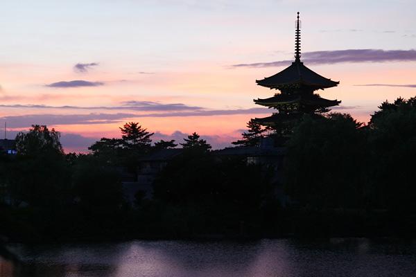 興福寺 五重塔夕焼け