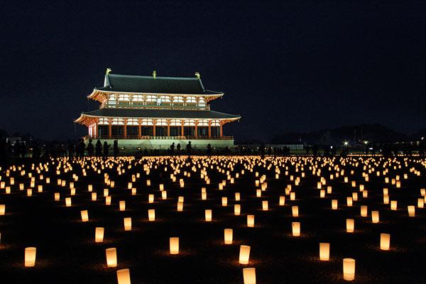 平城宮跡 光と灯り1