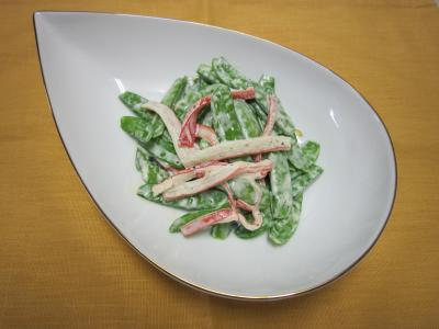 サヤエンドウのサラダ