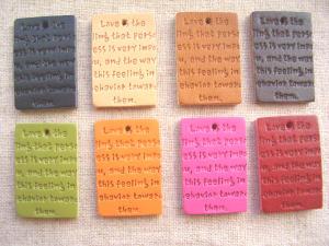 革タグ 長方形カラー