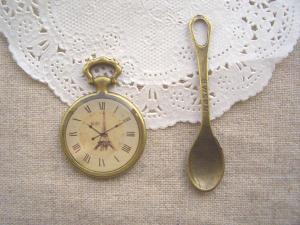 tyエッフェルの時計・大きなスプーン