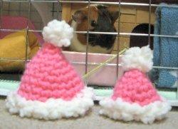 ピンク♪サンタ帽子