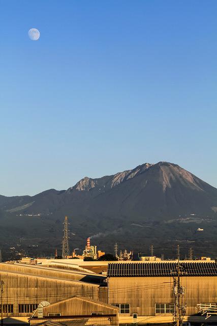 大山 日野川 夜景撮影 王子製紙 名月