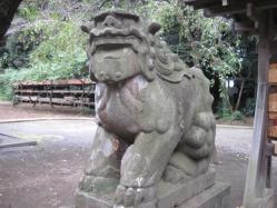 北野神社の狛犬 阿