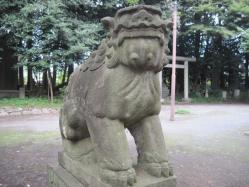北野神社の狛犬 吽