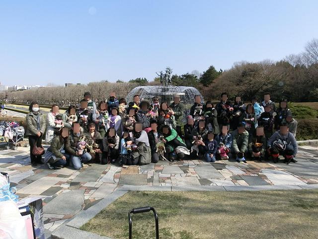 昭和記念公園お花見オフ会集合写真