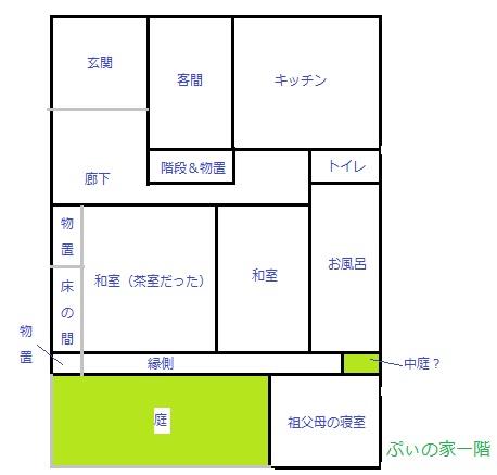 ぷぃの家1階見取り図