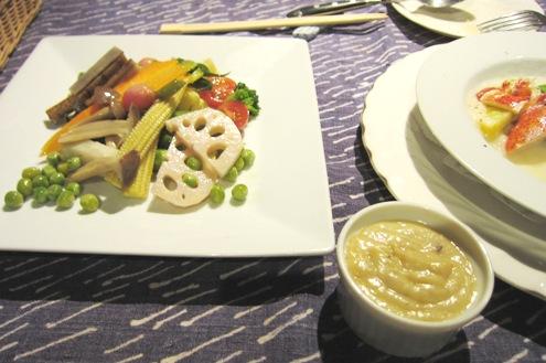 14)野菜サラダとディップ