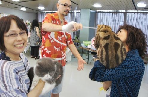 7)パタパタでデコピンされるうっじゅ(笑)
