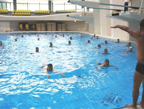 6.8)立ち泳ぎタイム