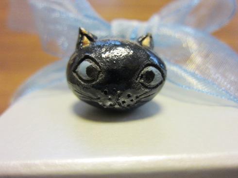 10)黒猫ちゃんリング