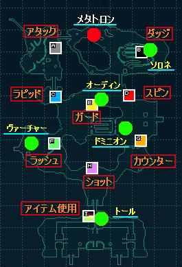 スキルと拠点の対応マップ