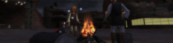 【焚き火を囲んで】