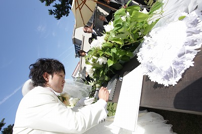 挙式 結婚証明書に署名