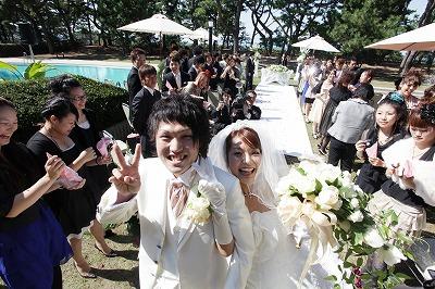 挙式後のお2人