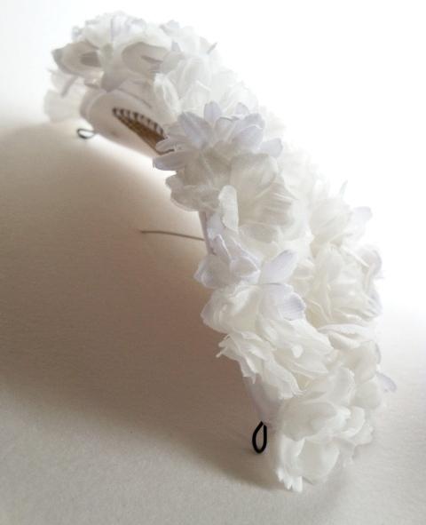 ボンネ フラワーフリル ふんわりホワイト03