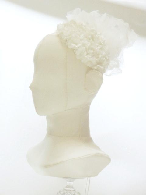ボンネ フラワーフリル ふんわりホワイト 5