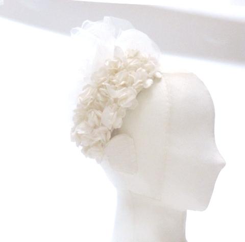 ボンネ アンティークホワイトのバラ
