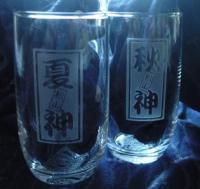 千社札風グラス